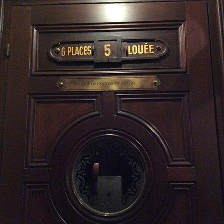 París, Francia: Il box del Fantasma dell'Opera ..... Brrrrrrrr
