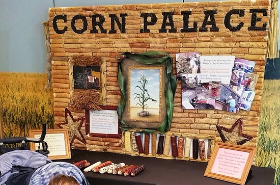 Mitchell, SD: There is also a display inside which talks about how the Corn Palace is decorated.