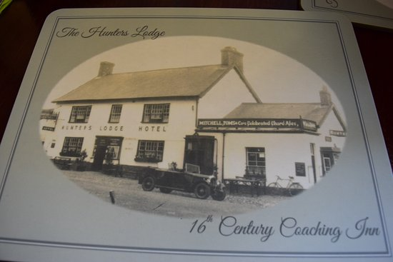 Axminster, UK: placemat showing an old picture