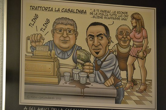 Trattoria La Casalinga: la déco ;)