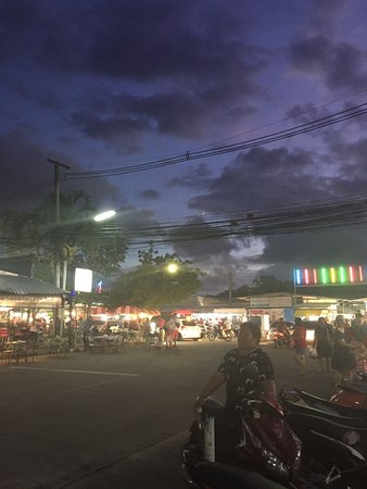 Phuket, Thaimaa: View from outside the night market.