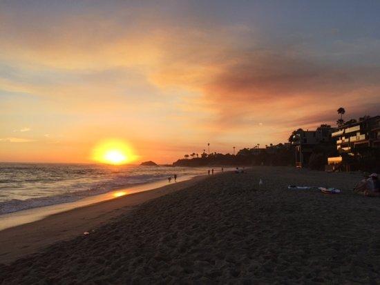 Aliso Beach Park : Sunset