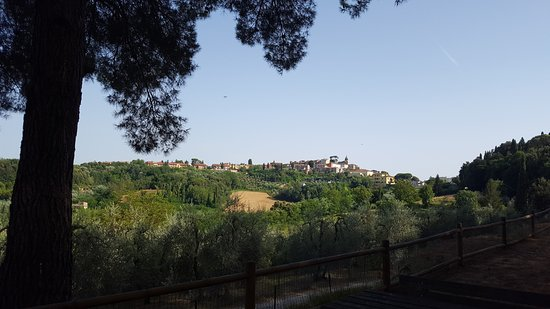 View of Peccioli from within the park