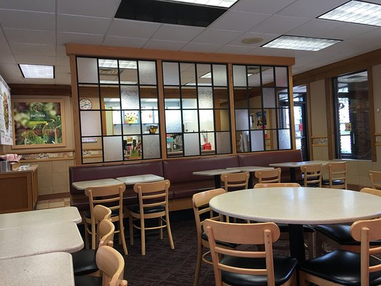 Waukesha, WI: The inside is updated and comfortable for a Wendy's. The service is prompt and the food hot.