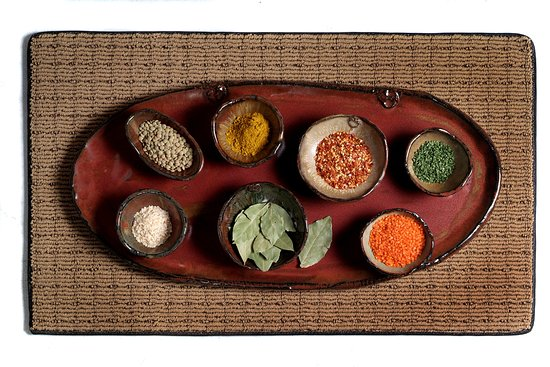Leeds, AL: Platter with Bowl and Spices