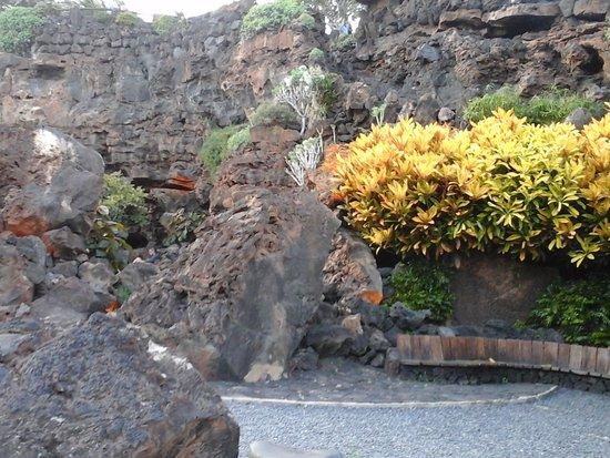 Punta Mujeres, Ισπανία: esterno della caverna ma sempre all'interno delle rocce laviche