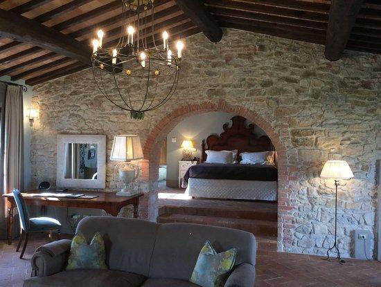 Castello di Casole Private Estate & Spa: Our stunning suite.