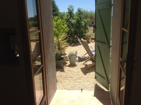 Azillanet, France : view from the bedroom