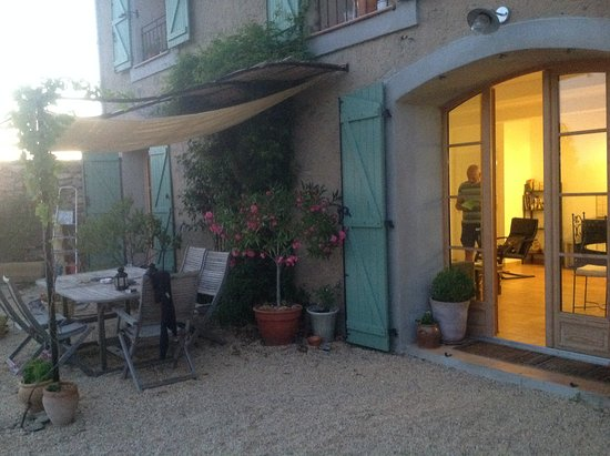 Azillanet, France : view of main living area from outside