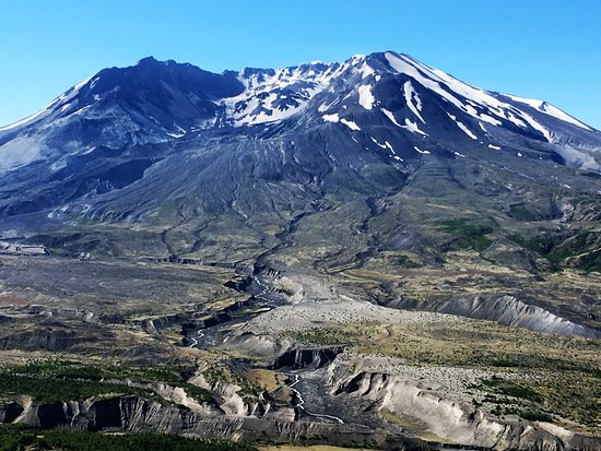Toutle, WA: Mount St. Helens asleep. Shhh! Don't wake her up.
