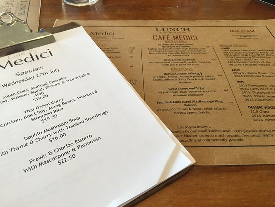 Martinborough, Новая Зеландия: Cafe Medici