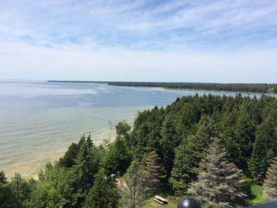 Baileys Harbor, WI: View from the top of the lighthouse.