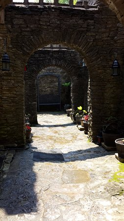 Loveland, OH: Passage from inside the castle to the gardens.