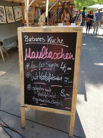 La Carte Du Jour Sur Le Marche De Kollwitz Platz Picture Of