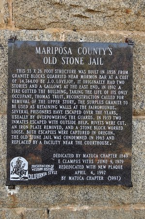 Mariposa County's old stone jail