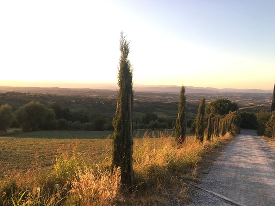 Rigone in Chianti: The view from the road to Rigone