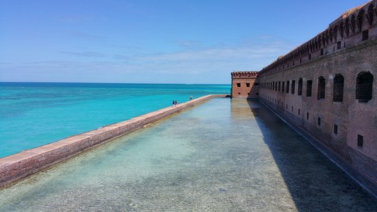Dry Tortugas National Park, FL: Walking on the mote surrounding the Fort.