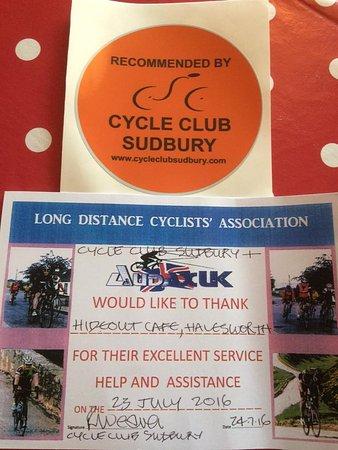 Halesworth, UK: Cyclists
