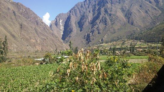 Cusco Region, Peru: Paisaje de Sierra en el viaje hacia Macchu Picchu