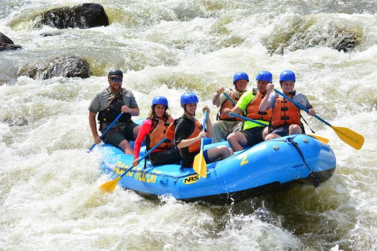 Paradise on the River: Third summer white water rafting. Pick up is at the High School. So much fun.