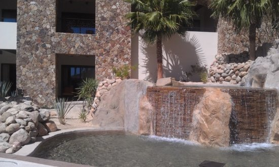 Grand Solmar Land's End Resort & Spa: Waterfall with our room just behind it. Love the spot.