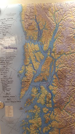 ifyou look closely, you can see where juneau is and where chichagof island is... not too close!