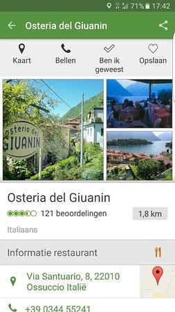 Ossuccio, İtalya: Screenshot_20160727-174247_large.jpg