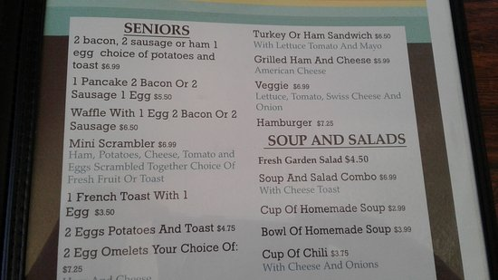 Sonora, Californien: menu