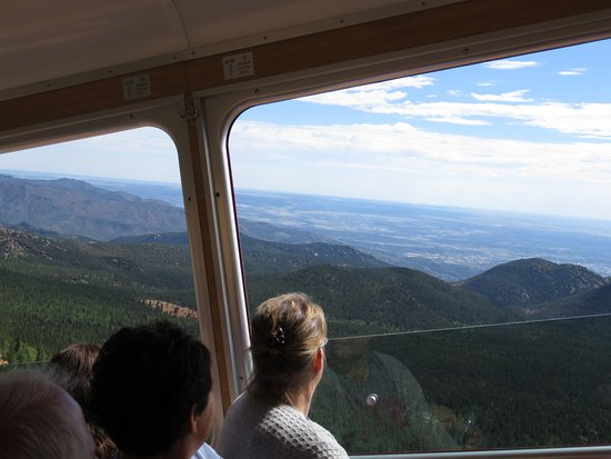 Manitou Springs, CO : View from the 3-seat side of the train