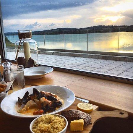 Carrigart, Irlandia: here at the restaurant