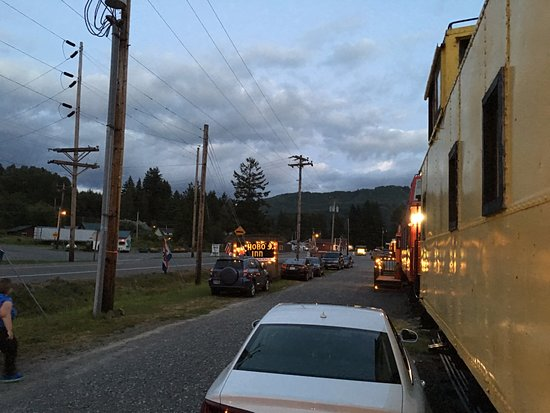 The Hobo Inn: View from the front door, Caboose 4