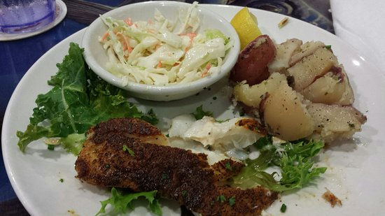 Palm City, FL: Petite Haddock blackened, after digging into it already