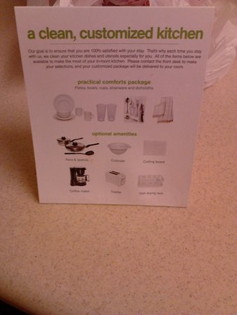 Extended Stay America - Birmingham - Perimeter Park South: Optional dish pack
