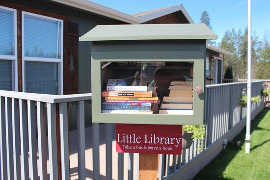 La Pine, OR: Little Library at Newberry RV Park