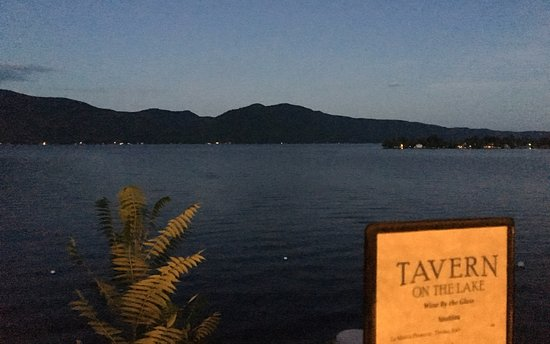 Bolton Landing, NY: View from Lakeside Table
