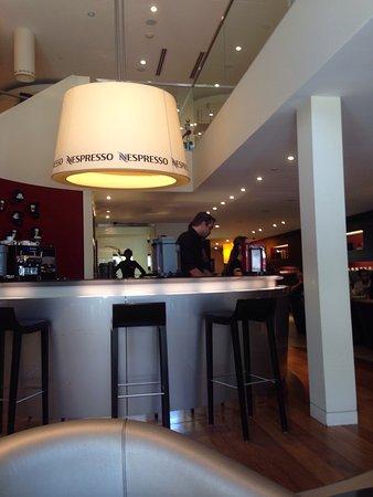Nespresso Boutique : Inside at the bar