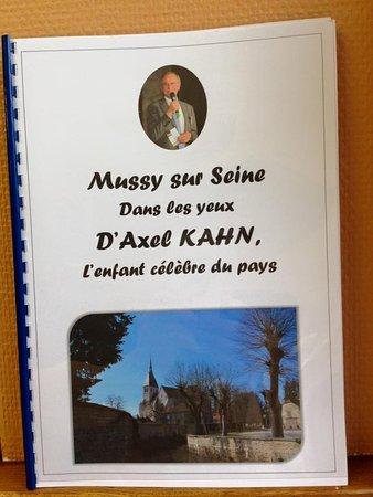 Mussy-sur-Seine, Frankrijk: enfant du pays Mr Kahn célèbre professeur généticiens vient se ressourcer dans le village