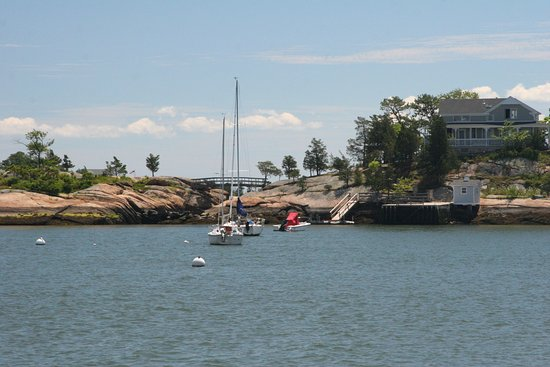 Branford, CT: View of one of the islands