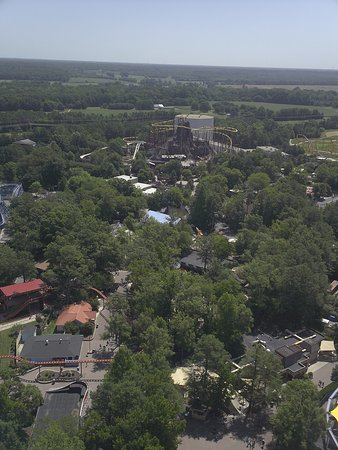 Kings Dominion: a view from the top of the eiffel tower replica.