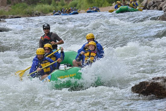 Buena Vista, CO: Having a blast in the Arkansas River!