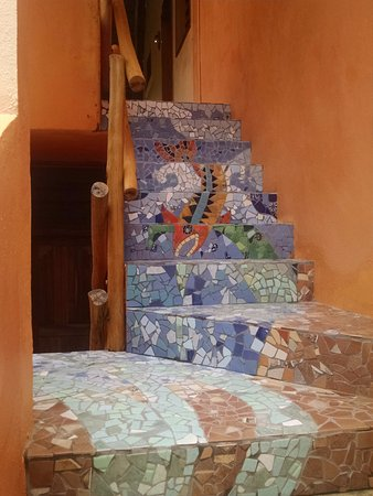 Mayan Beach Garden: Just one example of the beautiful tile work Marcia does