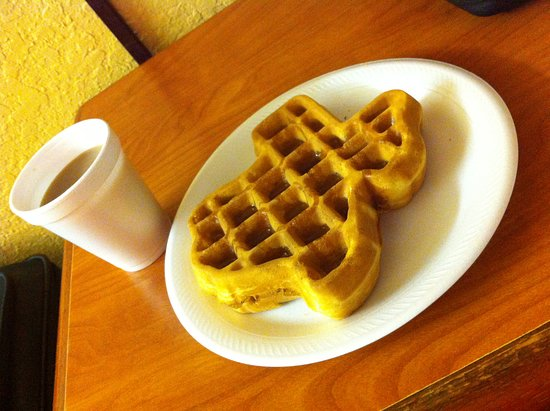 La Marque, TX: Waffles in the shape of Texas!