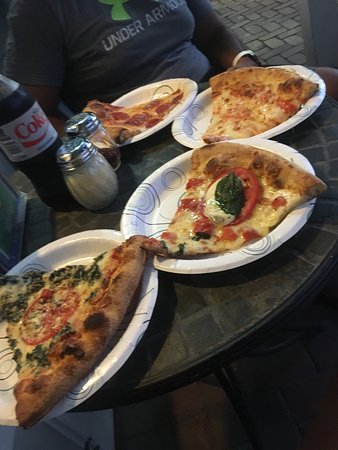 Trying as many as we can! Left to right: Italia, Caprese, Cheese, Pepperoni.