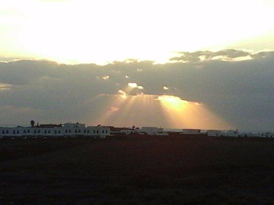 Playa de Papagayo: Tramonto tra playa Papagayo e playa Blanca