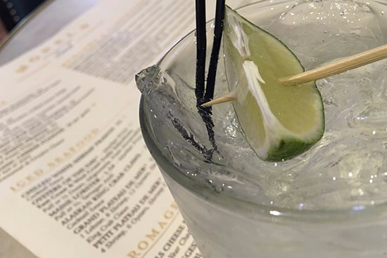 Morels French Steakhouse & Bistro: A vodka and soda ;)