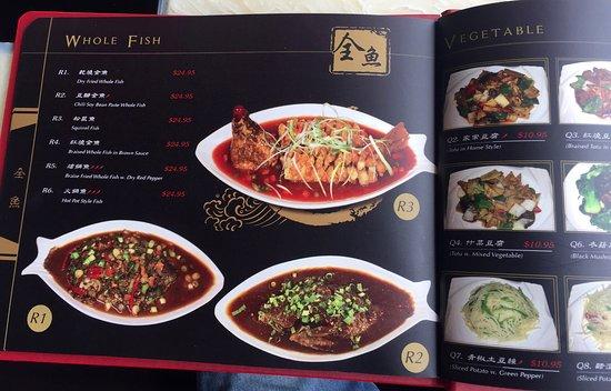 Red Chili Restaurant: menu