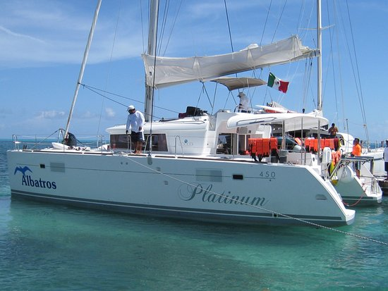 View from the flying bridge picture of albatros charters for Cozumel fishing charters