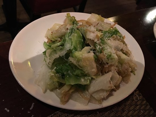 Glastonbury, CT: Sautéed escarole and onions