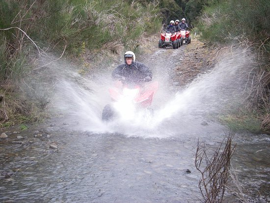 Hanmer Springs, Neuseeland: Hitting the creek