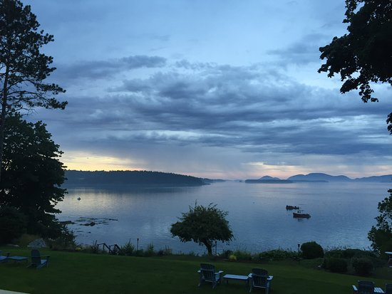 Acadia Bay Inn: View from the back porch.